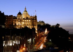 Night time view of Edinburgh